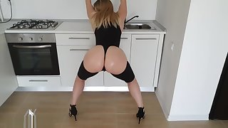 Anyah Kataleya Horny Big Ass Step Mom Needs Cock to Fuck Her in the Kitchen