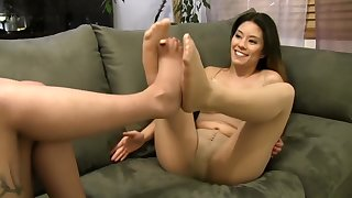 Pantyhose - Foot Play With Mercy West  Nikko Jordan