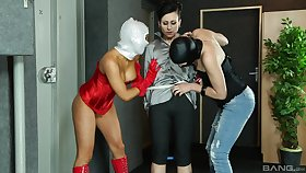 Deviant fairy threesome is all about Lucy Belle plus Jenna Lovely talking