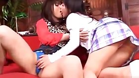 Shaved Pussy Asian Lesbians Rubbing with the addition of Kissing