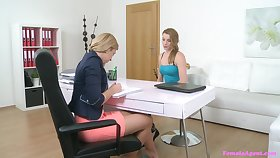 Sally Honey gets her pussy licked and fingered by a lesbian girl