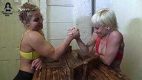 Domination Wrestling - brutal lesbian femdom with muscled babes