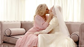 Hot babe in arms Julia Ann turns a wedding into a decidedly kinky pussy licking gymnastics