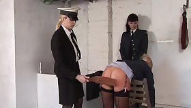 Kinky military women are spanking every time revision quite often, because it excites them a lot