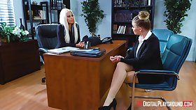 Lesbian sex consecutively a the worst Bridgette B together with Britney Amber in the office